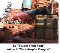 Le Studio Tram Tour mène à Catastrophe Canyon